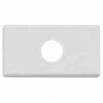 PLACA COM 1 FURO 9,5 MM TABLET BRANCO - 1