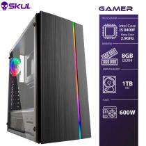 COMPUTADOR GAMER 5000 - I5 9400F 2.9GHZ 9ª GER. MEM. 8GB DDR4 HD 1TB FONTE 600W - 1