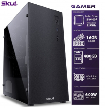 COMPUTADOR GAMER 5000 - I5 9400F 2.9GHZ 9ª GER. SEM VÍDEO INTEGRADO MEM. 16GB DDR4 SSD 480GB FONTE 600W - 1