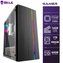 COMPUTADOR GAMER 7000 - I7 9700F 3.0GHZ 9ª GER. MEM. 16GB DDR4 (2X 8GB) SSD 480GB HD 1TB FONTE 600W PCF ATIVO - 1