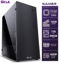 COMPUTADOR GAMER 7000 - I7 9700F 3.0GHZ 9ª GER. SEM VÍDEO INTEGRADO  MEM. 16GB DDR4 SSD 480GB HD 1TB FONTE 600W - 1