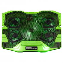 COOLER GAMER WARRIOR  VERDE COM LED AC292 - 1
