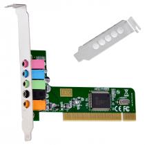 PLACA DE SOM PCI 5.1 CANAIS LOW PROFILE - PS51-PCI - 1