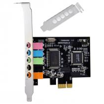 PLACA DE SOM PCI-EXPRESS 5.1 CANAIS LOW PROFILE - PS51-PCIE - 1