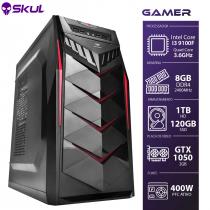 COMPUTADOR GAMER 3000 - I3 9100F 3.6GHZ 9ª GER. MEM. 8GB DDR4 SSD 120GB HD 1TB GTX 1050 2GB FONTE 400W - 1