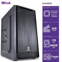 COMPUTADOR BUSINESS B300 - I3 8100 3.6GHZ MEM 8GB DDR4 SSD 480GB HD 1TB HDMI/VGA FONTE 200W - 1