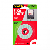 FITA ADESIVA DUPLA FACE 3M SCOTCH® FIXA FORTE ESPUMA 12MMX1,5 M 1,5 METROS - 1