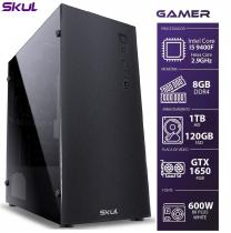 COMPUTADOR GAMER 5000 - I5 9400F 2.9GHZ 9ª GER. MEM. 8GB DDR4 SSD 120GB HD 1TB GTX 1650 4GB FONTE 600W WHITE - 1