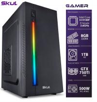 COMPUTADOR GAMER 3000 - I3 9100F 3.6GHZ 9ª GER. MEM. 8GB DDR4 HD 1TB GTX 750TI 2GB FONTE 500W - 1