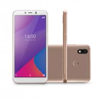 "CELULAR SMARTPHONE MULTILASER G MAX 4G 32GB 1GB RAM TELA 6.0"". OCTA CORE ANDROID 9.0 GO DOURADO - P9108 - 1"