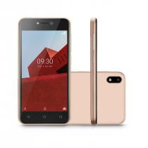 CELULUAR SMARTPHONE MULTI E 3G 32GB TELA 5.0 ANDROID 8.1 DUAL CÂMERA 5MP+5MP P9129 DOURADO - 1