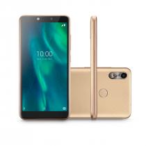CELULAR SMARTPHONE MULTILASER F TELA 5.5 POL. SENSOR DE DIGITAIS 32GB 3G 1GB RAM P9131 DOURADO - 1