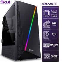 COMPUTADOR GAMER 3000 - RYZEN 3 3200G 3.6GHZ MEM. 8GB DDR4 HD 1TB RX 550 4GB FONTE 500W - 1