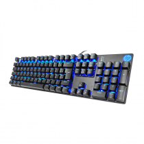 TECLADO GAMER USB MECÂNICO SWITCH BLUE GK400F LED AZUL PRETO - 1