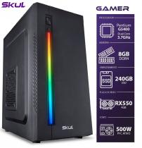 COMPUTADOR GAMER 1000 - PENTIUM G5400 3.7GHZ 8ª GER. MEM. 8GB DDR4 SSD 240GB RX 550 4GB FONTE 500W - 1