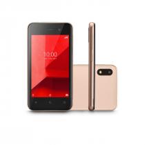 """CELULAR SMARTPHONE E LITE 3G 32G TELA 4.0"""" QUAD CORE CÂMERA TRASEIRA 5MP + 5MP FRONTAL 32GB P9127 DOURADO - 1"""