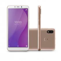 """CELULAR SMARTPHONE MULTI G 4G 32GB TELA 5.5"""" OCTA CORE SENSOR DE DIGITAIS P9133 DOURADO - 1"""