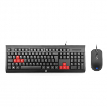 KIT TECLADO E MOUSE GAMER KM100 PRETO - 1