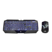 KIT TECLADO E MOUSE USB GAMER GK1100 PRETO - 1