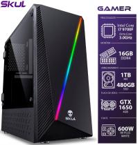 COMPUTADOR GAMER 7000 - I7 9700F 3.0GHZ 9ª GER. MEM. 16GB DDR4 SSD 480GB HD 1TB GTX 1650 4GB FONTE 600W - 1