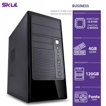 COMPUTADOR BUSINESS B300 - I3 8100 3.6GHZ 8ª GER MEM 4GB DDR4 SSD 120GB GABINETE TORRE COM SENSOR DE INTRUSAO 200W - 1