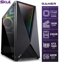 COMPUTADOR GAMER 7000 - I7 9700F 3.0GHZ 9ª GER. MEM. 16GB DDR4 (2X 8GB) SSD 240GB GTX 1660 6GB FONTE 600W - 1