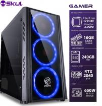 COMPUTADOR GAMER 5000 - I5 9400F 2.9GHZ 9ª GER. MEM. 16GB DDR4 SSD 240GB RTX 2060 6GB FONTE 650W - 1