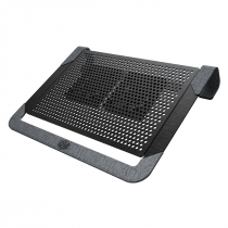 BASE PARA NOTEBOOK U2 PLUS V2 - ALUMÍNIO- 2 FANS - 80 MM - MNX-SWUK-20FNN-R1 - 1