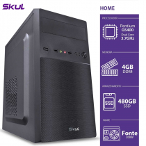 COMPUTADOR HOME H200 - PENTIUM DUAL CORE G5400 3.7GHZ 4GB DDR4 SSD 480GB HDMI/VGA FONTE 200W - 1