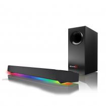 CAIXA DE SOM SOUNDBAR 7.1 - SBX KATANA - COM SUBWOOFER - RGB LEDS -  USB/BT/P2 - 75W-150W(PEAK) - PRETA - 51MF8245AA000 - 1