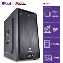 COMPUTADOR HOME H100 POWERED BY ASUS - CELERON J4005 2.00GHZ 4GB DDR4 SSD 120GB HDMI/VGA FONTE 300W - 1