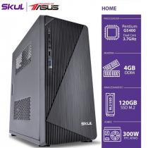 COMPUTADOR HOME H200 POWERED BY ASUS - PENTIUM DUAL CORE G5400 3.7GHZ MEM 4GB DDR4 SSD M.2 120GB HDMI/VGA FONTE 300W - 1