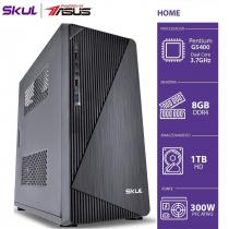 COMPUTADOR HOME H200 POWERED BY ASUS - PENTIUM DUAL CORE G5400 3.7GHZ MEM 8GB DDR4 HD 1TB HDMI/VGA FONTE 300W - 1