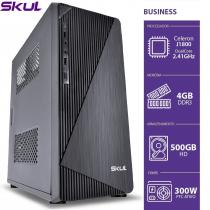 COMPUTADOR HOME H100 - CELERON DUAL CORE J1800 2.41GHZ 4GB DDR3 SODIMM HD 500GB HDMI/VGA FONTE 300W SEM PPB - 1
