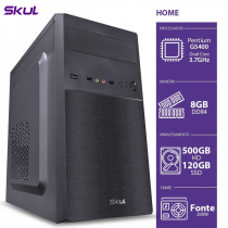 COMPUTADOR HOME H200 - PENTIUM DUAL CORE G5400 3.7GHZ MEM 8GB DDR4 SSD 120GB HD 500GB HDMI/VGA FONTE 200W - 1