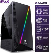 COMPUTADOR GAMER 1000 - PENTIUM DUAL CORE G5400 3.7GHZ MEM 8GB DDR4 SSD 240GB HDMI/VGA FONTE 450W - 1