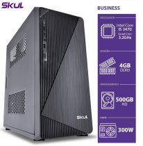 COMPUTADOR BUSINESS B500 - I5 3470 3.2GHZ 3ª GER MEM 4GB DDR3 HD 500GB HDMI/VGA FONTE 300W SEM PPB - 1