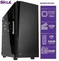 COMPUTADOR BUSINESS B500 - WORKSTATION XEON E-2124G 3.4GHZ MEM 32GB DDR4 SSD M.2 NVME 500GB HD 2TB FONTE 600W - 1