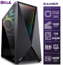 COMPUTADOR GAMER 7000 - I7 9700F 3.0GHZ 9ª GER. MEM. 16GB DDR4 (2X 8GB) SSD 240GB HD 1TB GTX 1660 6GB FONTE 600W - 1