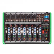 MESA DE SOM 8 CANAIS ULTRA SLIM COM USB E BLUETOOTH PM-1224BT 127V - 1