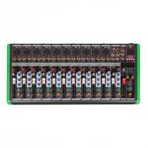 MESA DE SOM 12 CANAIS ULTRA SLIM COM USB E BLUETOOTH PM-1624BT 220V - 1
