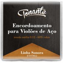 ENCORDOAMENTO PARA VIOLÃO AÇO - SONORA - TENSÃO MÉDIA 0.12 - 60% COBRE - ETSTM12 - 1