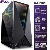 COMPUTADOR GAMER 5000 - I5 9600KF 3.7GHZ 9ª GER. MEM. 8GB DDR4 HD 1TB RX580 8GB WATER COOLER 120MM FONTE 600W - 1