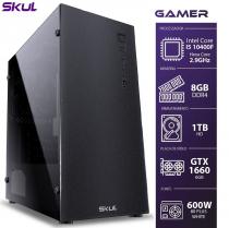 COMPUTADOR GAMER 5000 - I5 10400F 2.9GHZ 10ª GER. MEM. 8GB DDR4 HD 1TB GTX 1660 6GB FONTE 600W WHITE - 1