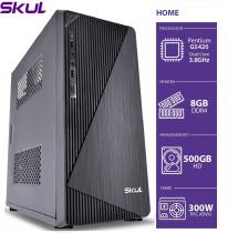 COMPUTADOR HOME H200 - PENTIUM DUAL CORE G5420 3.8GHZ MEM 8GB DDR4 HD 500GB HDMI/VGA FONTE 300W - 1