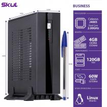 MINI COMPUTADOR BUSINESS B100 - CELERON DC J4005 2.0GHZ 4GB DDR4 SODIMM SSD 120GB 4XUSB 3.0 2X USB 2.0 FONTE EXT. 60W - 1