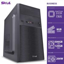 COMPUTADOR BUSINESS B300 - I3 4130 3.4GHZ 8GB DDR3 SSD 120GB HD 500GB HDMI/VGA FONTE 200W - 1