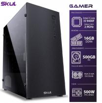 COMPUTADOR GAMER 5000 - CORE I5 9400F 2.9GHZ 9ª GER. MEM. 16GB DDR4 HD 500GB SEM PLACA DE VÍDEO FONTE 500W - 1