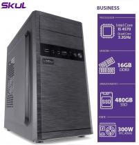 COMPUTADOR BUSINESS B500 - I5 4570 3.2GHZ 4ª GER MEM 16GB DDR3 SSD 480GB HDMI/VGA FONTE 300W PFC ATIVO - 1