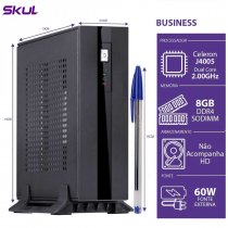 MINI COMPUTADOR BUSINESS B100 - CELERON DUAL CORE J4005 2.00GHZ 8GB DDR4 SODIMM SEM HD/SSD 6X USB FONTE EXT. 60W - 1